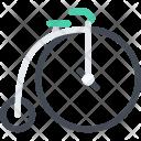 Retro Bike Delivery Icon