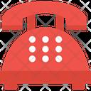 Retro Phone Call Set Landline Icon
