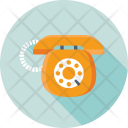 Retro Telephone Communication Icon