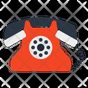 Retro Telephone Landline Office Phone Icon