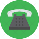 Retro Telephone Set Icon