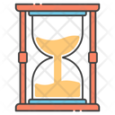 Retro Timekeeper Hourglass Sandglass Icon