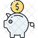 Savings Return On Investment Piggy Bank Icon