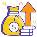 Return On Investment Profit Coin Sack Icon