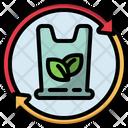 Reusable Recycle Bag Eco Bag Icon