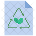Eco Friendly Paper Recycle Icon