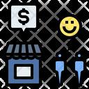 Revenue Demand Satisfaction Icon