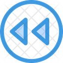 Reverse Backward Media Player Icon
