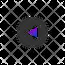 Reverse Button Backward Button Media Option Icon