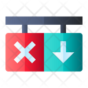 Reverse Traffic Sign Icon