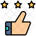 Review Three Stars Thumbs Up Icon