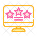 Review Stars Computer Icon