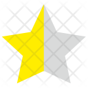 Half Star Mark Icon