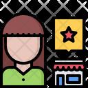 Review Woman Shop Icon
