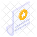 Review Sheet Favourite Document Star Sheet Icon