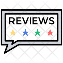 Reviews Feedback Ranking Icon