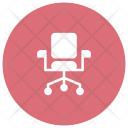 Revolving Chair Office Seat Icon