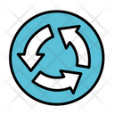 Revolving Road Road Roundabout Icon