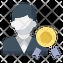 Reward Badge Businessman Icon
