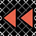 Backward Player Control Icon