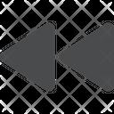 Rewind Symbol Rewind Sign Maltimedia Sign Icon