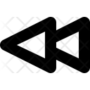 Backward Rewind Previous Icon