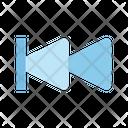 Backward Step Multimedia Icon