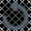 Rewind Arrow Multimedia Icon