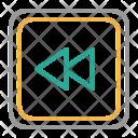 Left Rewind Sound Icon