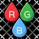 Interlocking Diagram Rgb Color Model Icon