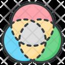 Rgb Chromatic Color Scheme Icon