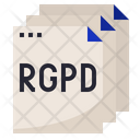 Rgpd Document Rules Icon