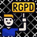 Rgpd Impact Employee Icon