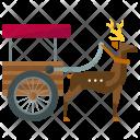 Rheindeer Pulled Sled Icon