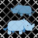 Rhino Wildlife Animal Icon