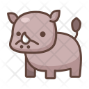 Rhino Animal Wild Icon