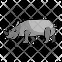 Rhino Savana Animal Icon