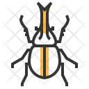 Rhino Beetle Insect Icon