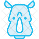Rhinoceros Rhino Animal Icon