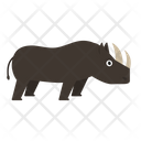 Rhinoceros Animal Zoo Icon