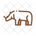 Rhinoceros Safari Travel Icon