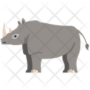 Rhinoceros Animal Wildlife Icon