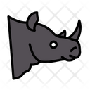 Rhinoceros Horn Zoo Icon