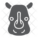 Rhinoceros Mammal Face Icon