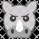 Rhinoceroses Face Icon