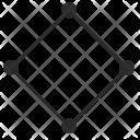 Rhombus Border Curves Icon