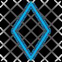 Diamond Rhombus Shape Icon