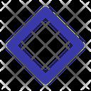 Rhombus Square Shape Icon