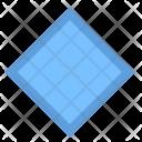 Rhombus Shape Border Icon
