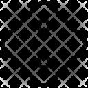 Rhombus Button Cloth Icon